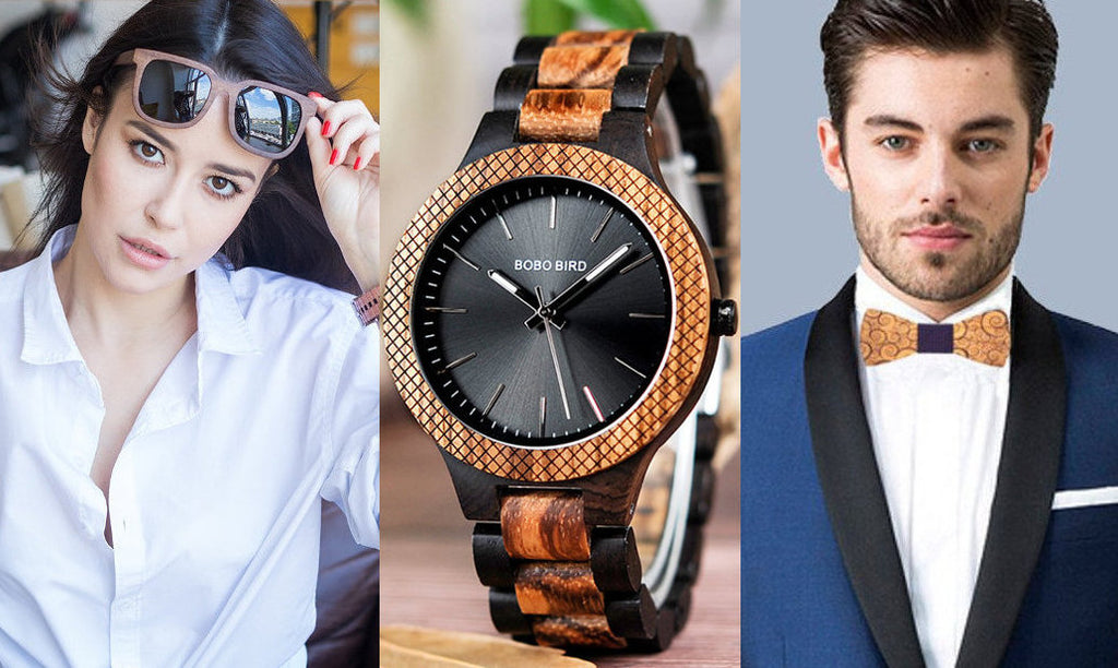 Trendy Wooden Accessories for Men and Women.