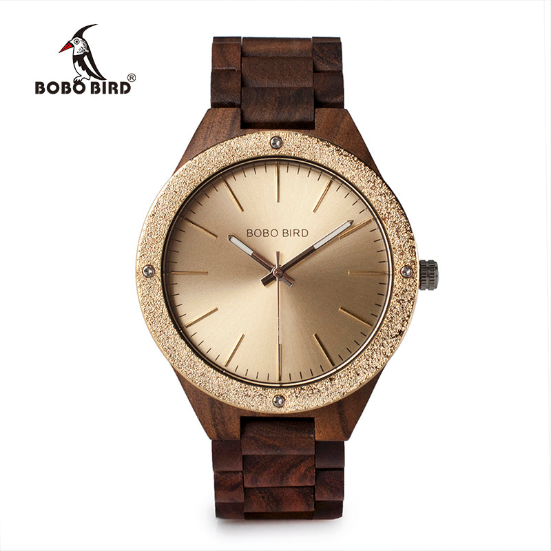STERLING - Luxury Gold Dial Men's Watch by BOBO BIRD