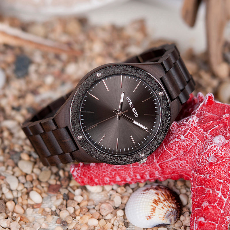 SPARTAK - Luxury Black Dial Men's Watch by BOBO BIRD