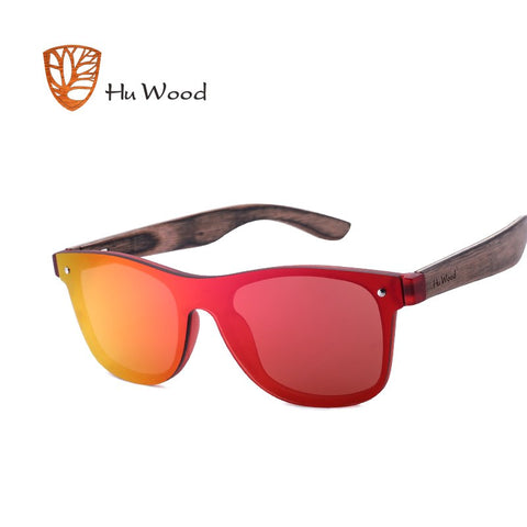 RIVOLI - Unisex Rimless Wayfarer Polarized Sunglasses with Bamboo Legs by HU WOOD