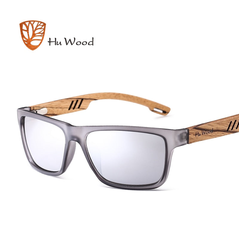 NOLANA - Unisex Polarized Zebra Wood Sunglasses by HU WOOD