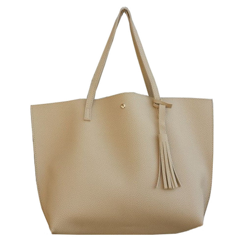 WANDA - Vegan Leather Ladies Tassel Tote Bag