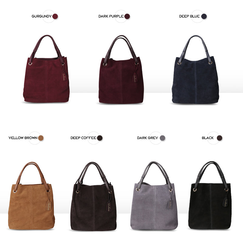 CORNELIA - Real Split Suede Leather Bag for Women