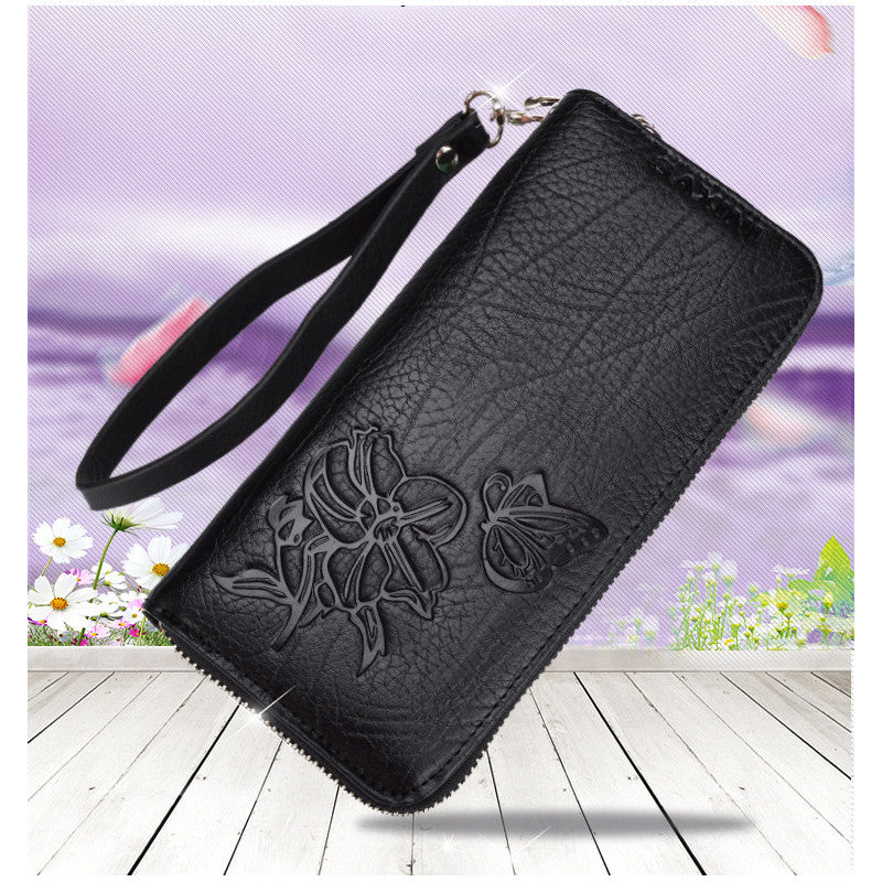 ROMA (Butterfly Embossed) - Genuine Leather Ladies Purse