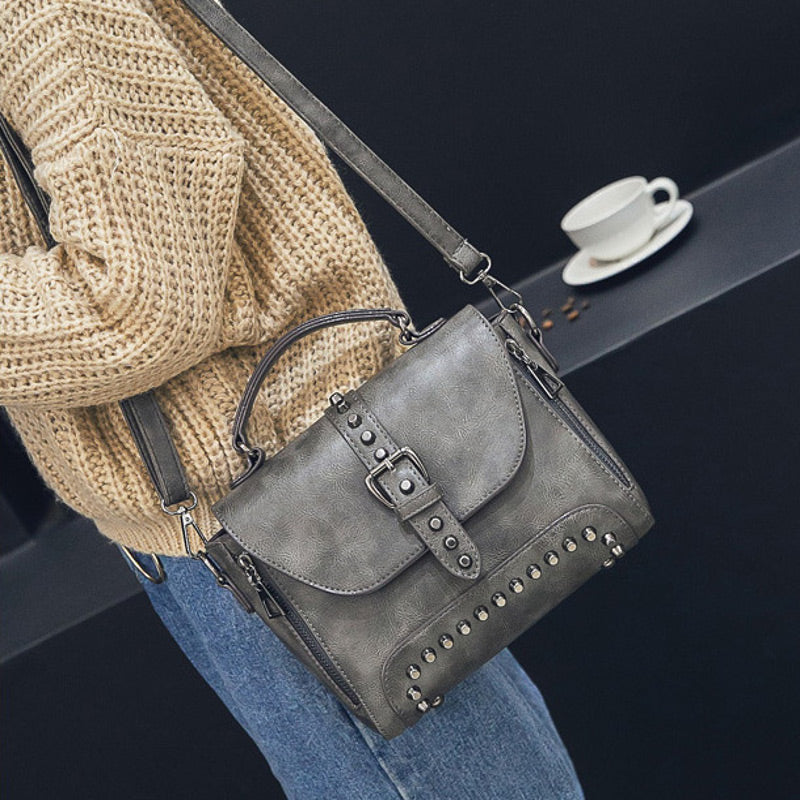 DAHLIA - Crossbody Women's Bag with Metal Rivets