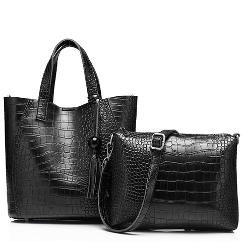 CATALINA - Vegan Leather Handbag & Crossbody Bag Set