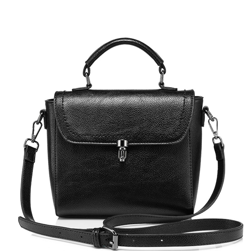 GRETA - Vegan Leather Small Top Handle Shoulder Bag