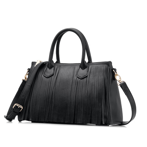 FREYA - Luxury Vegan Leather Handbag with Tassel
