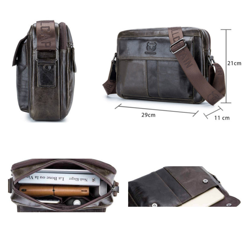 BOLTON - Men's Genuine Leather Messenger Bag