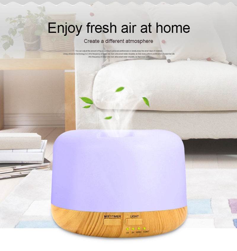 OPALITE - 300ml Ultrasonic Essential Oil Diffuser with 7 Color Changing LED Lights