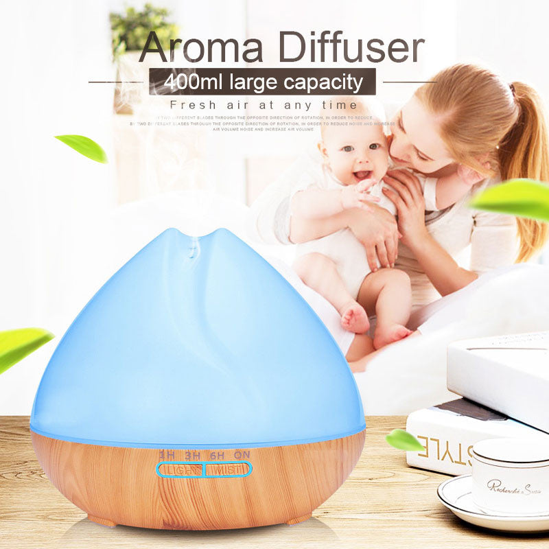 SAPPHIRE - 400ml Essential Oil Aromatherapy Diffuser with 7 Color Changing LED Lights