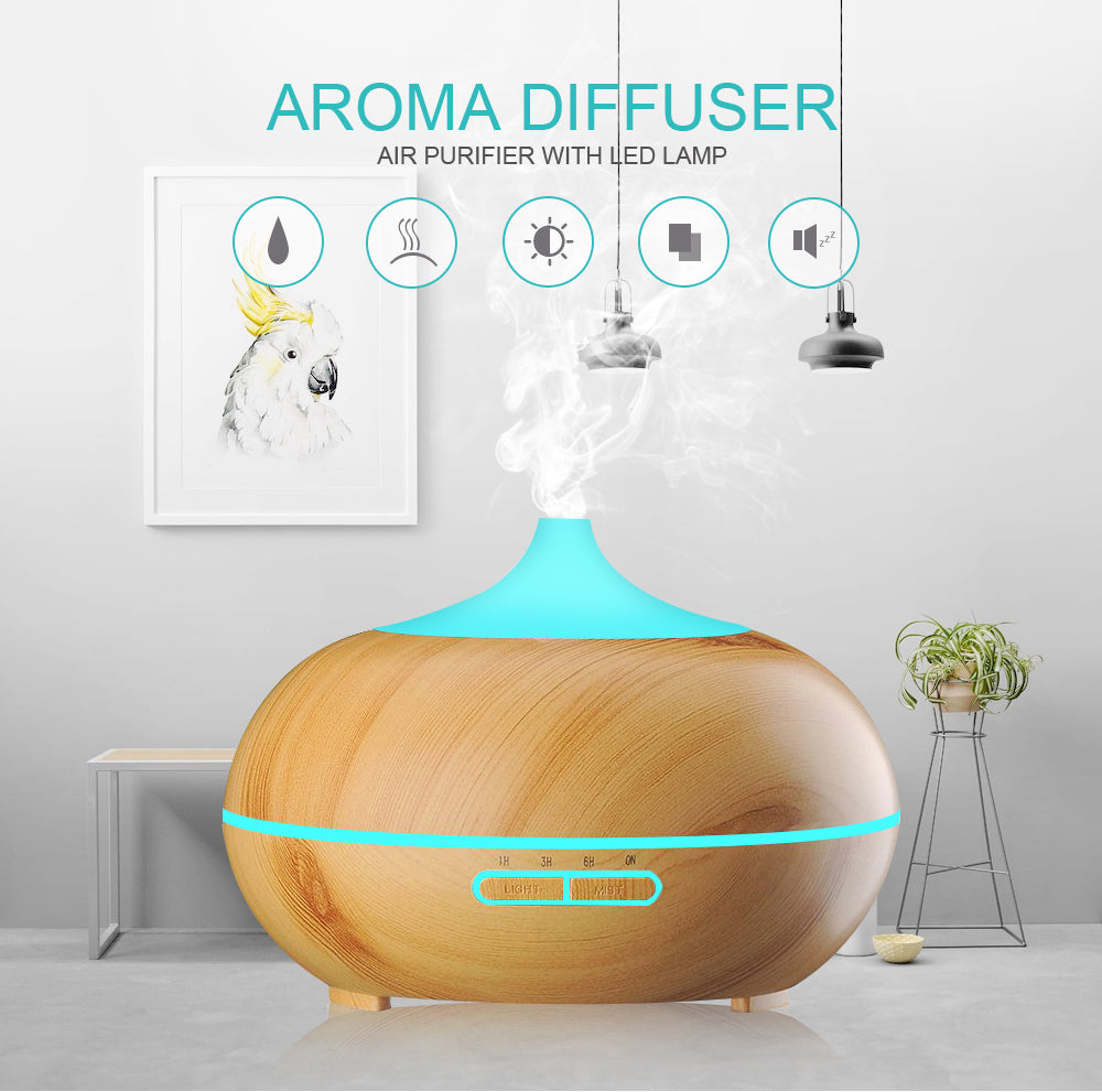GARNET - 300ml Essential Oil Aromatherapy Diffuser with 7 Color Changing LED Lights