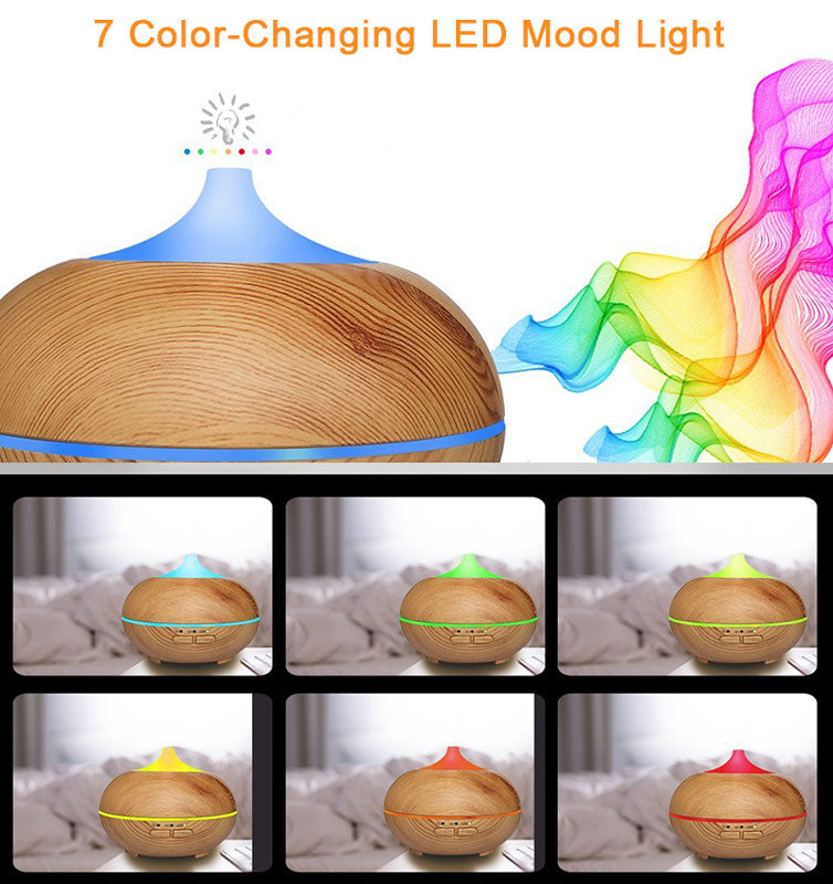 RUBY - 150ml Essential Oil Aromatherapy Diffuser with 7 Color Changing LED Lights
