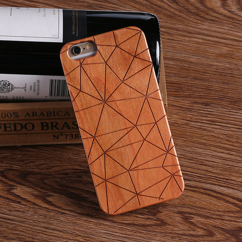 GEOMETRIC (Pale) - Laser Engraved Real Wood iPhone and Samsung Cases