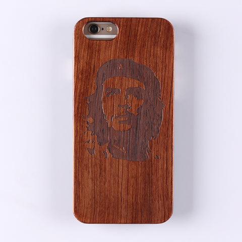 CHE GUEVARA (Dark) - Laser Engraved Real Wood iPhone and Samsung Cases