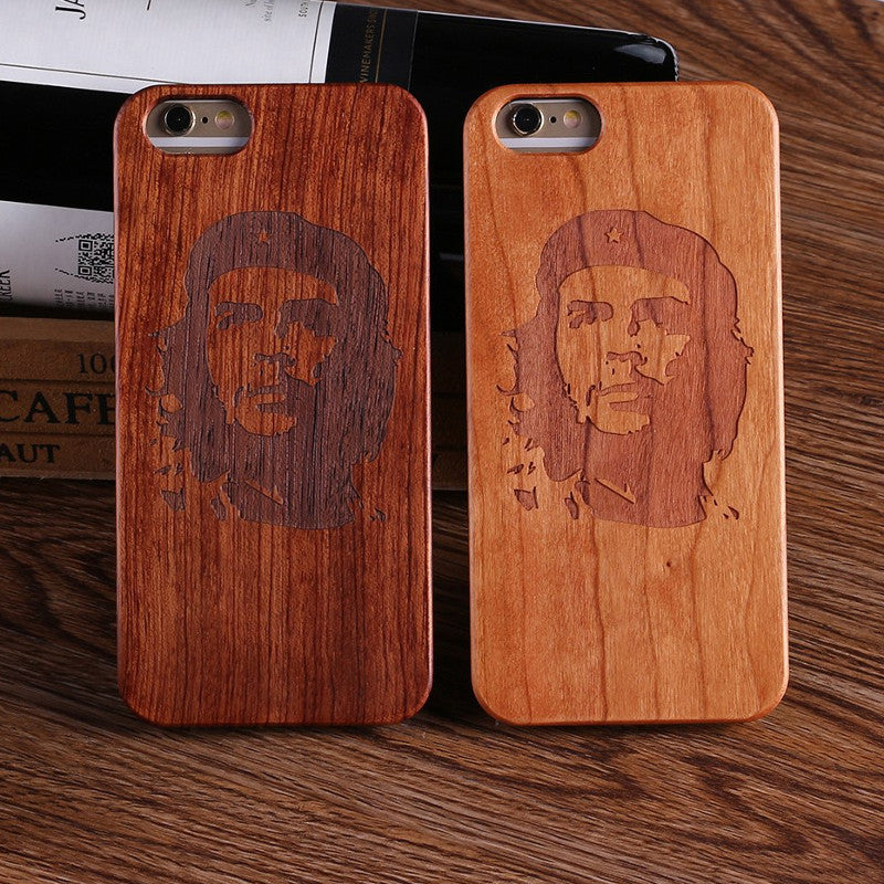 CHE GUEVARA (Pale) - Laser Engraved Real Wood iPhone and Samsung Cases