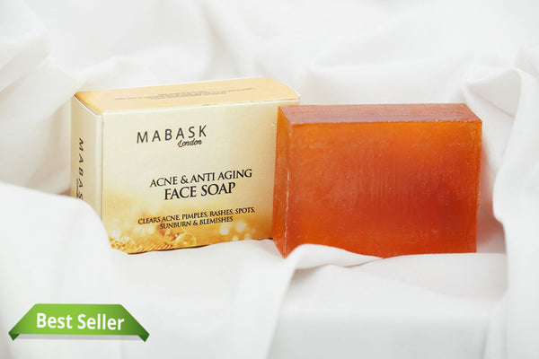 Acne & Anti-Aging Face Soap (clears all acne pimples & blemishes, dark spots & acne scars, sunburn & hyperpigmentation - brightens the face flawlessly)