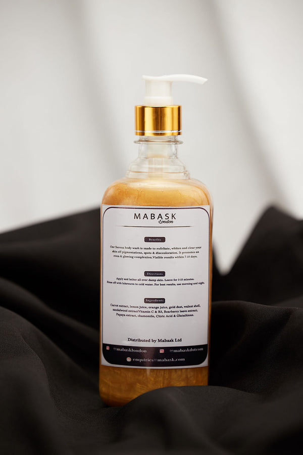 SERENA BY MABASK | GOLD DUST EXFOLIATING & WHITENING BODY WASH (500ml)