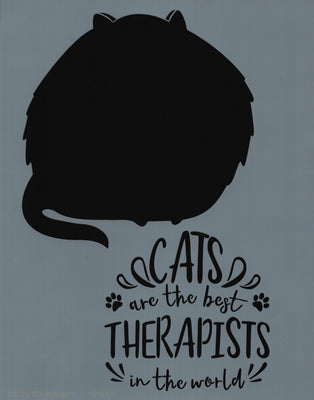 Cats are Best Therapists Stencil