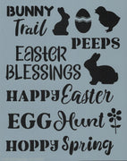 Easter Words Stencil