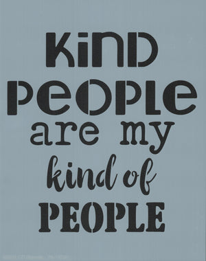 Kind People Stencil