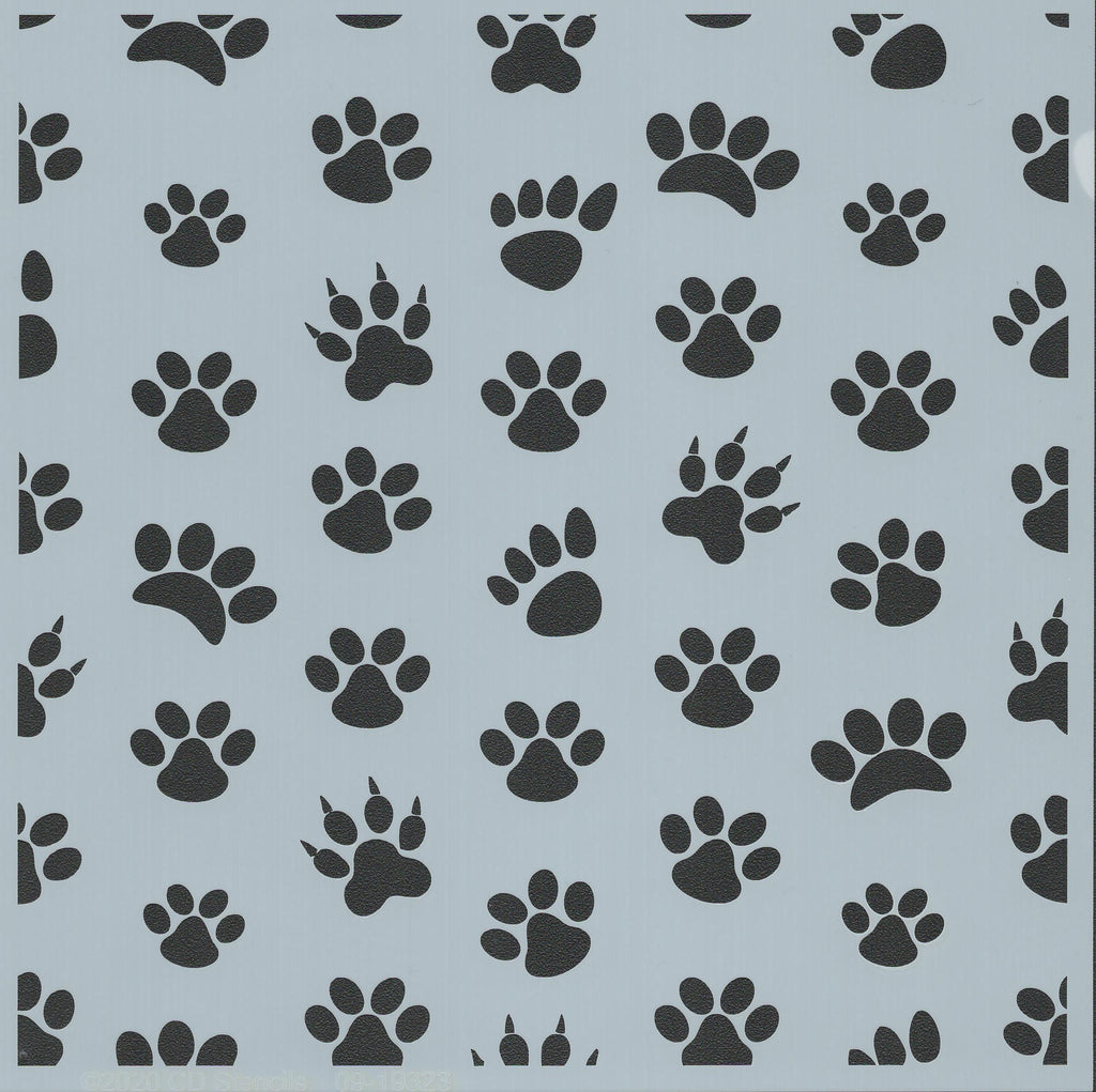 Paws Background Stencil
