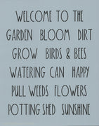 Dunn Inspired Garden Words Stencil