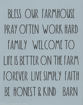 Dunn Inspired Farmhouse Words Stencil