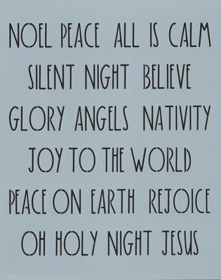 Dunn Inspired Religious Christmas Words Stencil