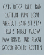 Dunn Inspired Pet Words Stencil
