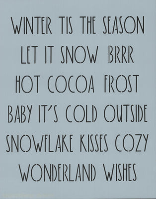 Dunn Inspired Winter Words Stencil