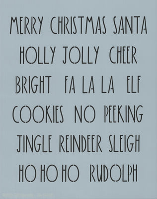 Dunn Inspired Santa Words Stencil