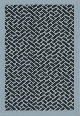 Diagonal Herringbone Border Stencil