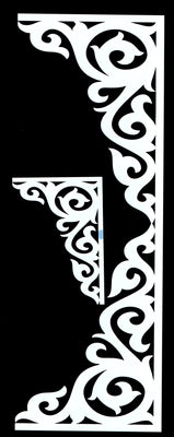 Flourish Corner and Border Stencil- 2pc.