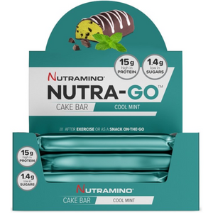 12 x Nutramino NUTRA-GO Cake Protein Bar Cool Mint 57g CLEARANCE BBE DEC 18
