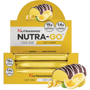 12 x Nutramino NUTRA-GO Cake Protein Bar Zesty Lemon 57g CLEARANCE BBE FEB 19