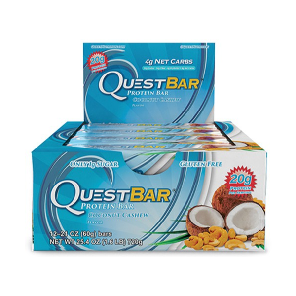 12 x Quest Coconut Cashew Protein Bar CLEARANCE BBE 12/02/19