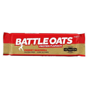 Battle Oats Protein Flapjack Cherry Bakewell
