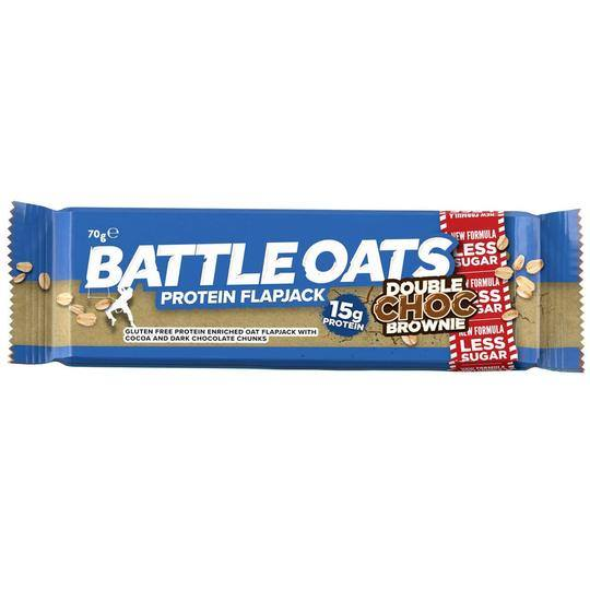 Battle Oats Protein Flapjack Double Chocolate Brownie
