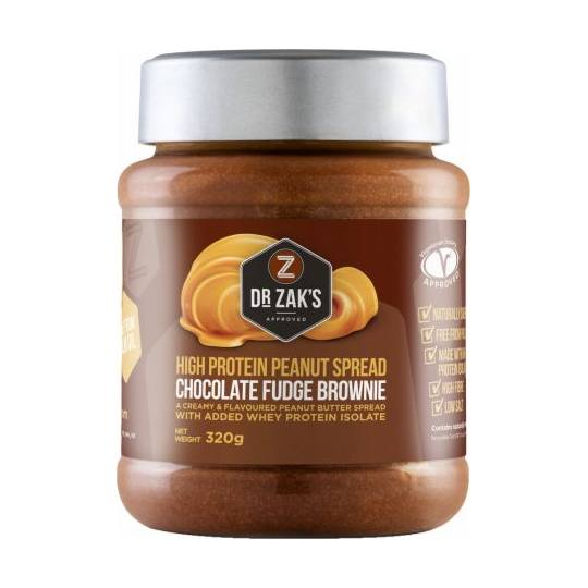 Dr Zaks High Protein Peanut Butter Spread Chocolate Fudge Brownie