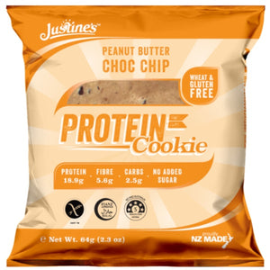 JUSTINES PEANUT BUTTER CHOC CHIP PROTEIN COOKIE