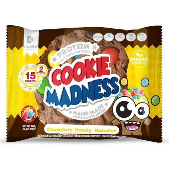 Protein Cookie Madness Chocolate Candy Monster
