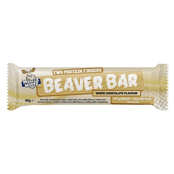 Muscle Moose Beaver Bar White Chocolate Protein Bar
