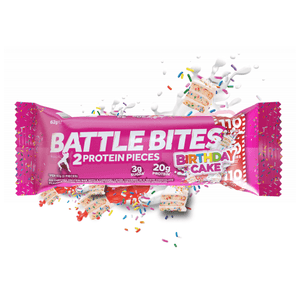 Battle Oats Protein Battle Bites Birthday Cake