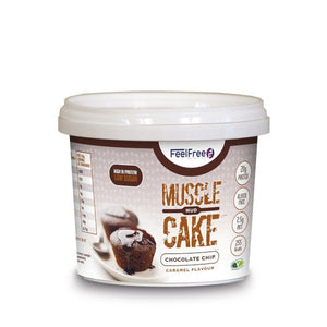 Feel Free Chocolate Chip Caramel Muscle Mud Cake