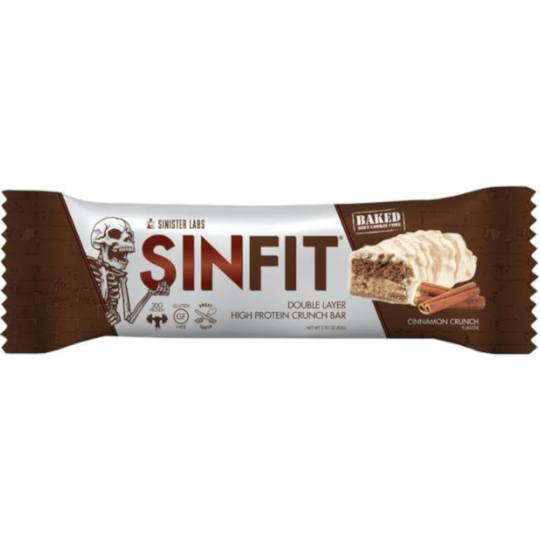 Sinister Labs SINFIT Double Layer Cinnamon Crunch Bar