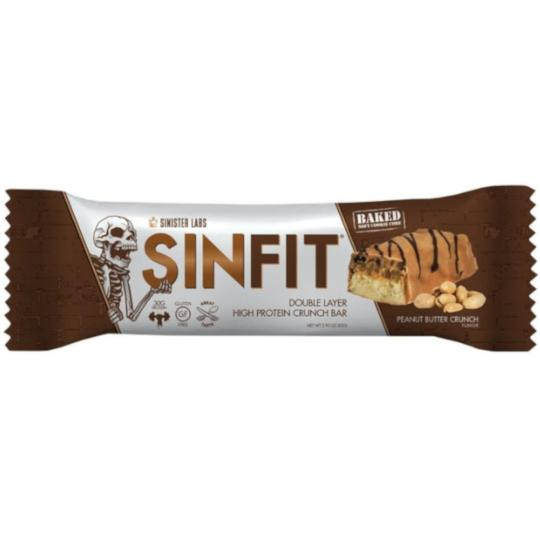 Sinister Labs SINFIT Double Layer Peanut Butter Crunch Bar