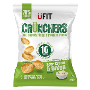 UFIT Crunchers Sour Cream & Onion Protein Chips