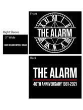 Load image into Gallery viewer, 40th Anniversary - 1981 -2021 Alarm Town Hall Clock Logo T