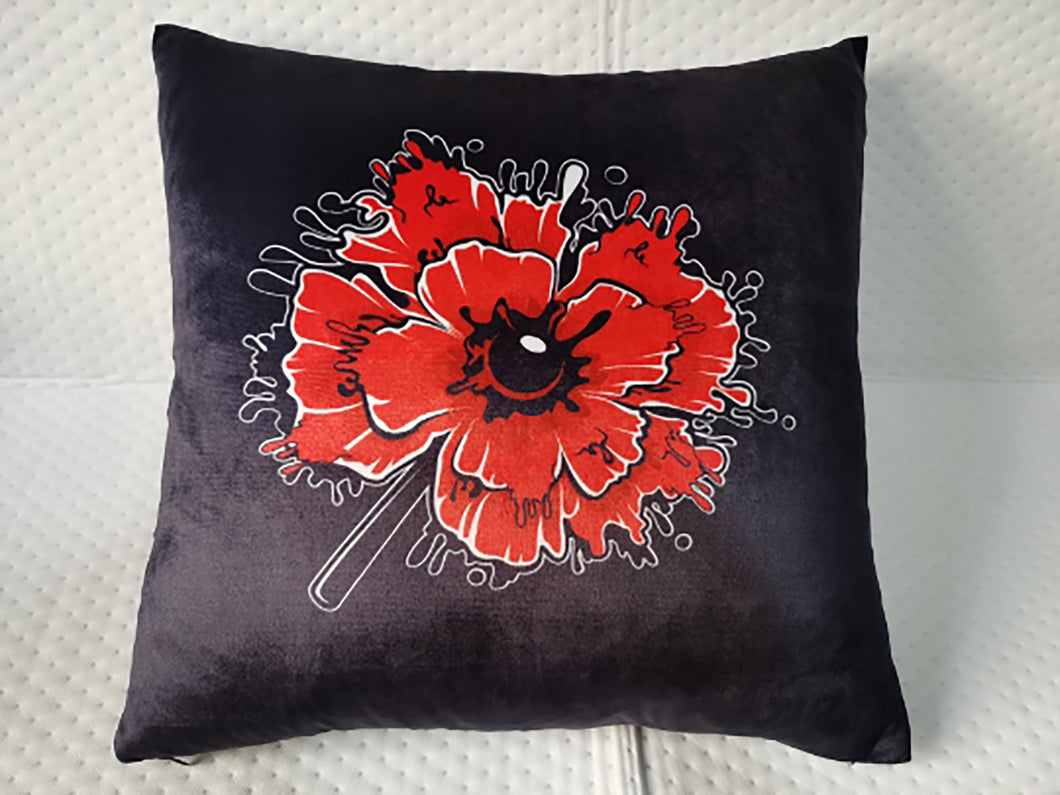 The Alarm - Red Poppy Cushion Cover